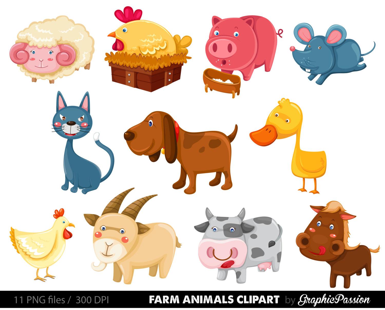 Animals Clipart, Farm.