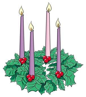 Animated Advent Wreath Clipart .