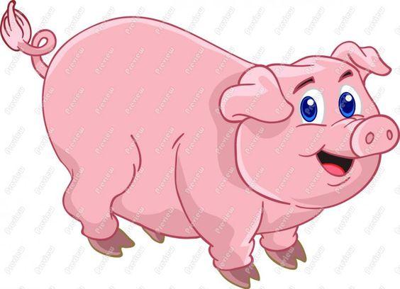 Animated Clip Art Free | Cartoon Pig Clip Art - Cute Pig