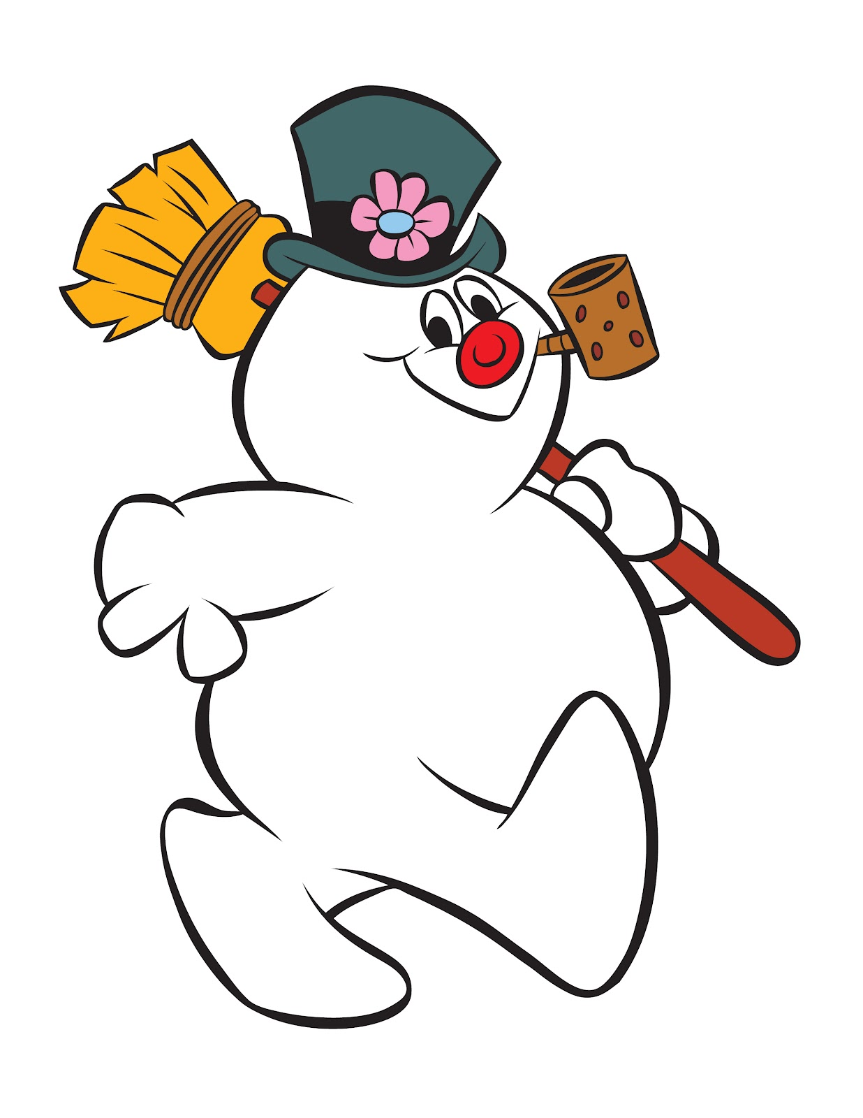 Animated frosty the snowman .