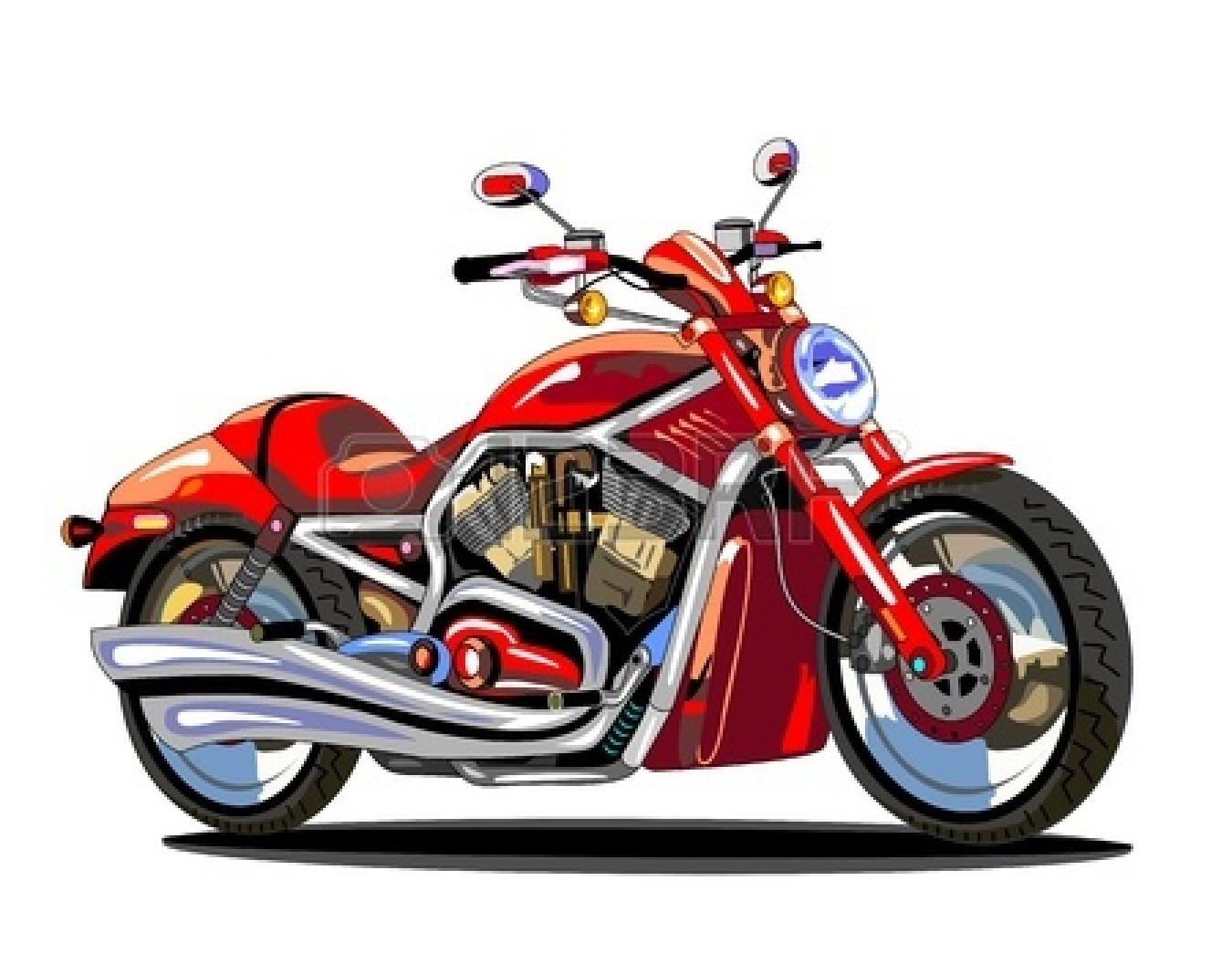 Animated motorcycle clipart
