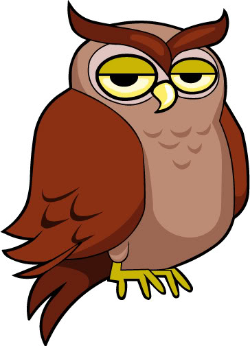 Animated Owl Clipart #1