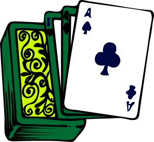 Animated playing cards clipart .