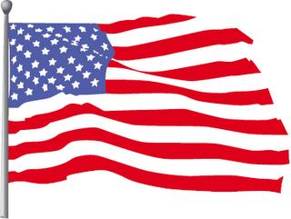 Animation Waving Flag Clipart #1