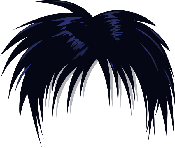 Anime Hair Clip Art At Clker Com Vector Clip Art Online Royalty