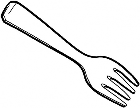 Another Fork Colouring Page