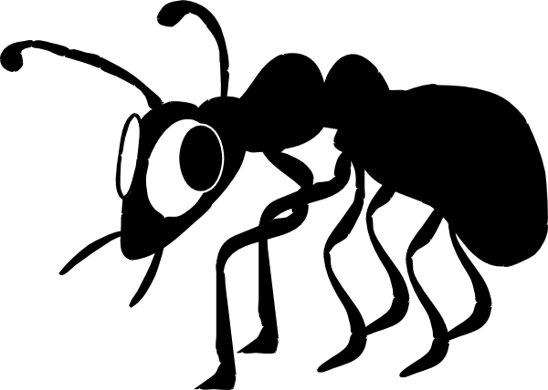Ant black and white ants clipart biezumd
