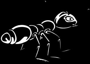 Black Shiny Ant Clip Art