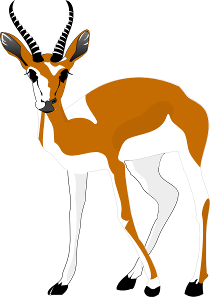 Antelope Clip Art At Clker Com Vector Clip Art Online Royalty Free