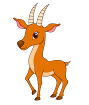 antelope standing with big eyes clipart. Size: 99 Kb