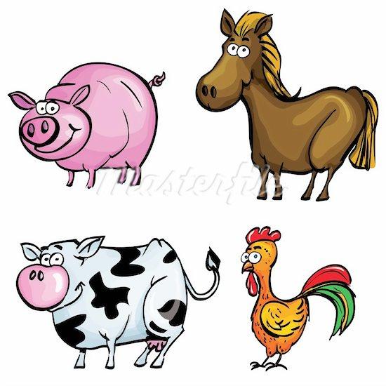 Any Ofcartoon Farm Animal Clip Art And Farmer In Tractor