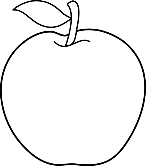 apple outline clip art