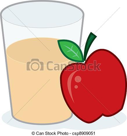 ... Apple Juice - Glass of apple juice with apple