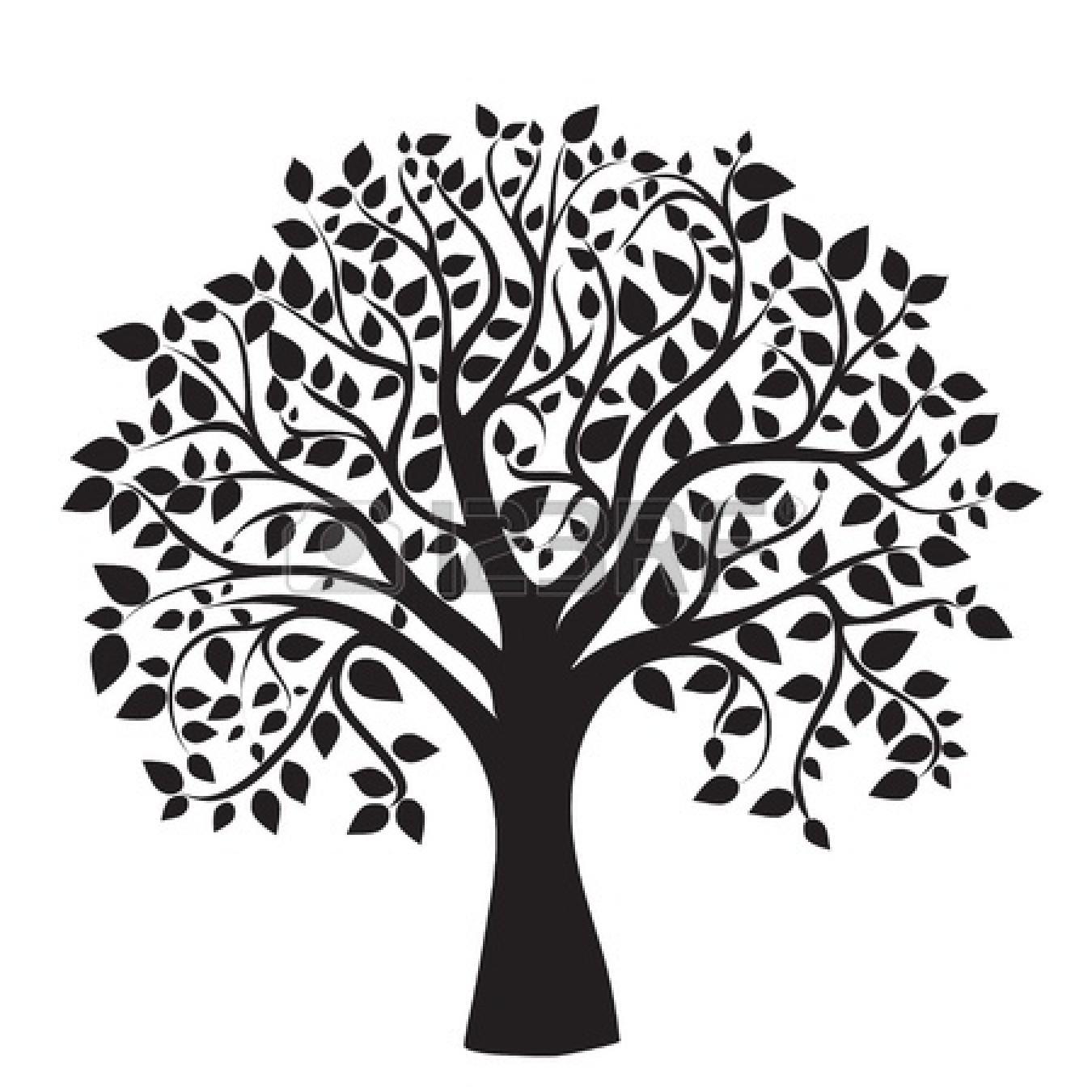Apple Tree Black And White. Free Tree Clip Art ..