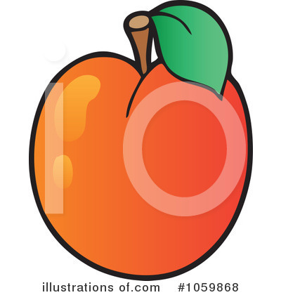 Royalty-Free (RF) Apricot Clipart Illustration #1059868 by visekart