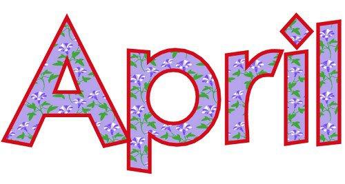 April clipart free 1 ms zamorano