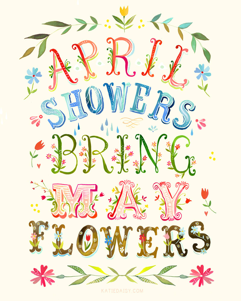 April showers april flowers clipart 2 clipart