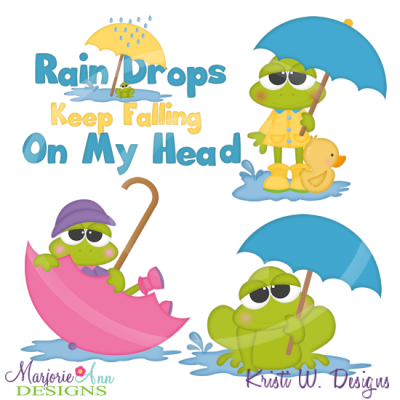 April showers april shower frogs cutting files includes clipart 2