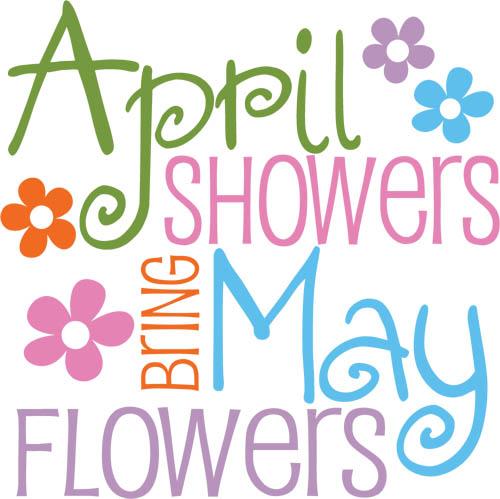 April Showers Clipart - JPEG Image #9590