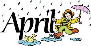 April Showers Clipart - JPEG Image #9596