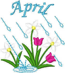 Spring Showers Clip Art   yes the old saying april showers bring may  flowers we are