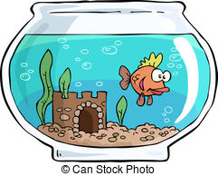 ... Aquarium - An aquarium with small fish vector illustration