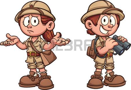 Vector clip art cartoon illustration with simple gradients. Each