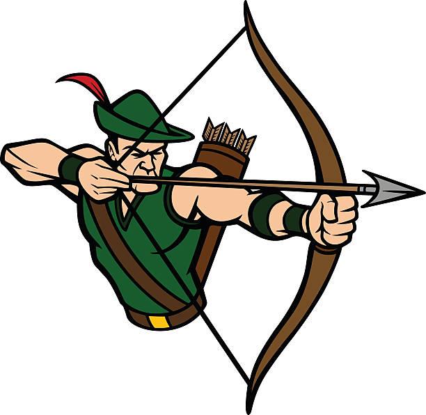 Archer Mascot vector art illustration