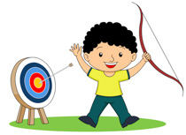 archery arrows hit target with bullseye clipart. Size: 145 Kb