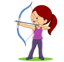 Girl Aiming With Bow And Arrow Archery Size: 110 Kb