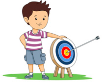Girl Holding Up Bow And Arrow Archery Size: 107 Kb