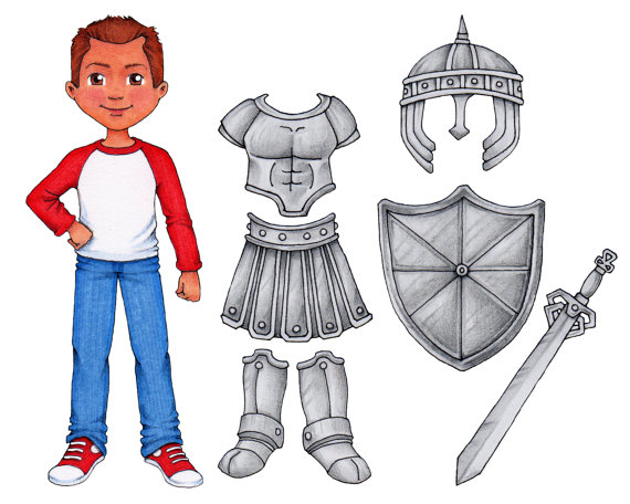 Armor of God - Clip Art u0026 Paper Doll set. ◅