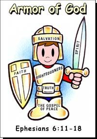 Armor Of God Color- Bible Study during spiritual warfare lesson