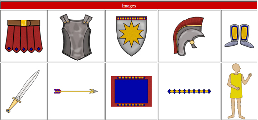 Armor of God Girl. New Testament Clipart Visuals .
