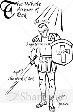 Armor Of God Word Art Spiritual Battle Word Art