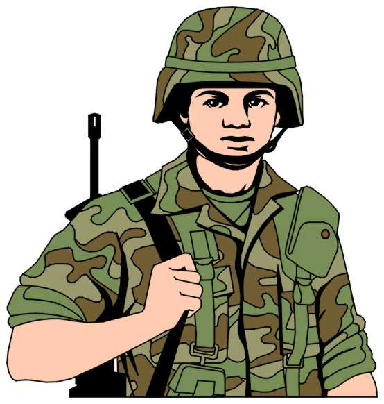 Army Officers Group Clip Art, Individual Soldier Clip Art
