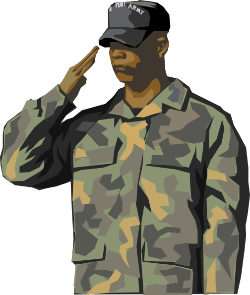 Army Soldier Saluting Clipart This Clip Art Of An Army