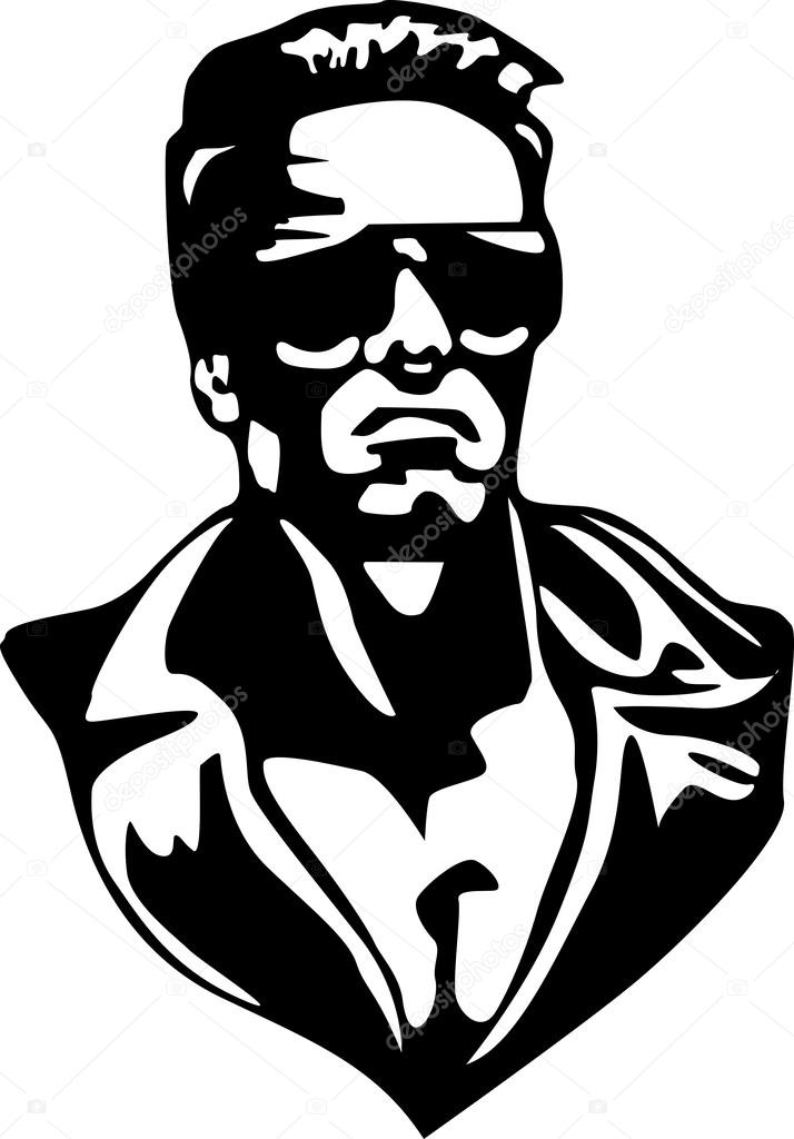Terminator in vector Stock Vector
