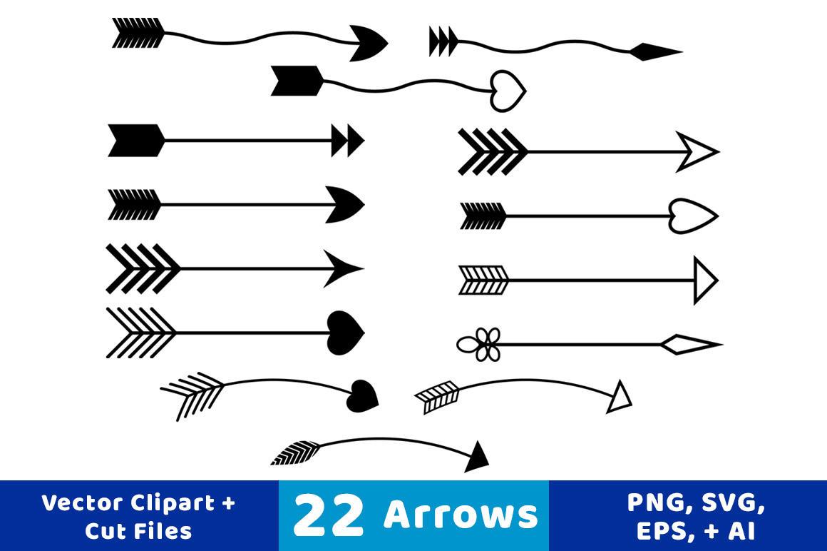 22 Arrows Clipart, Rustic Arrow Clipart, Arrow SVG, Wedding Clipart, Arrow  Graphics