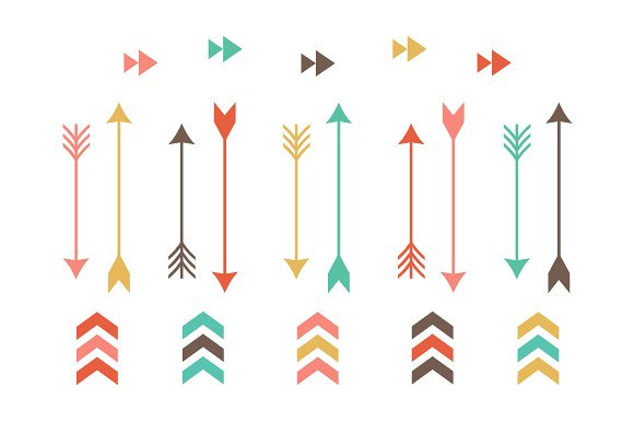 Tribal Arrow Clip Art - Illustrations