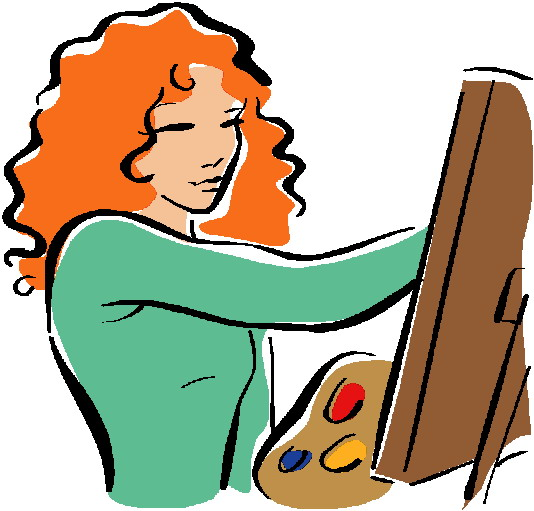 ... Art and artist clipart free ...