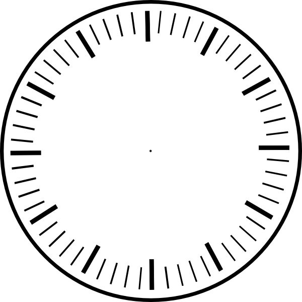 art clock face template | Clock Face, hour and minute marks, no hands clip u0026middot; Printable ClipartTemplate ...