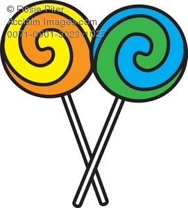 Art Illustration Of Two Swirled Lollipops Acclaim Stock Photography