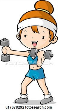 Art Of Girl Exercising With Hand Weights U17678292 Search Clipart