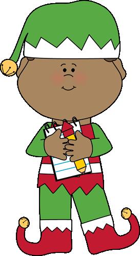Art Rf Christmas Elf Cli A Happy Xmas Elf Sitting Rf Christmas Elf Cli