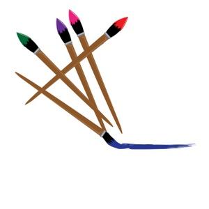 artist paint brush clip art