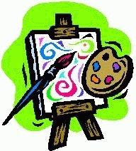 Paint easel clipart