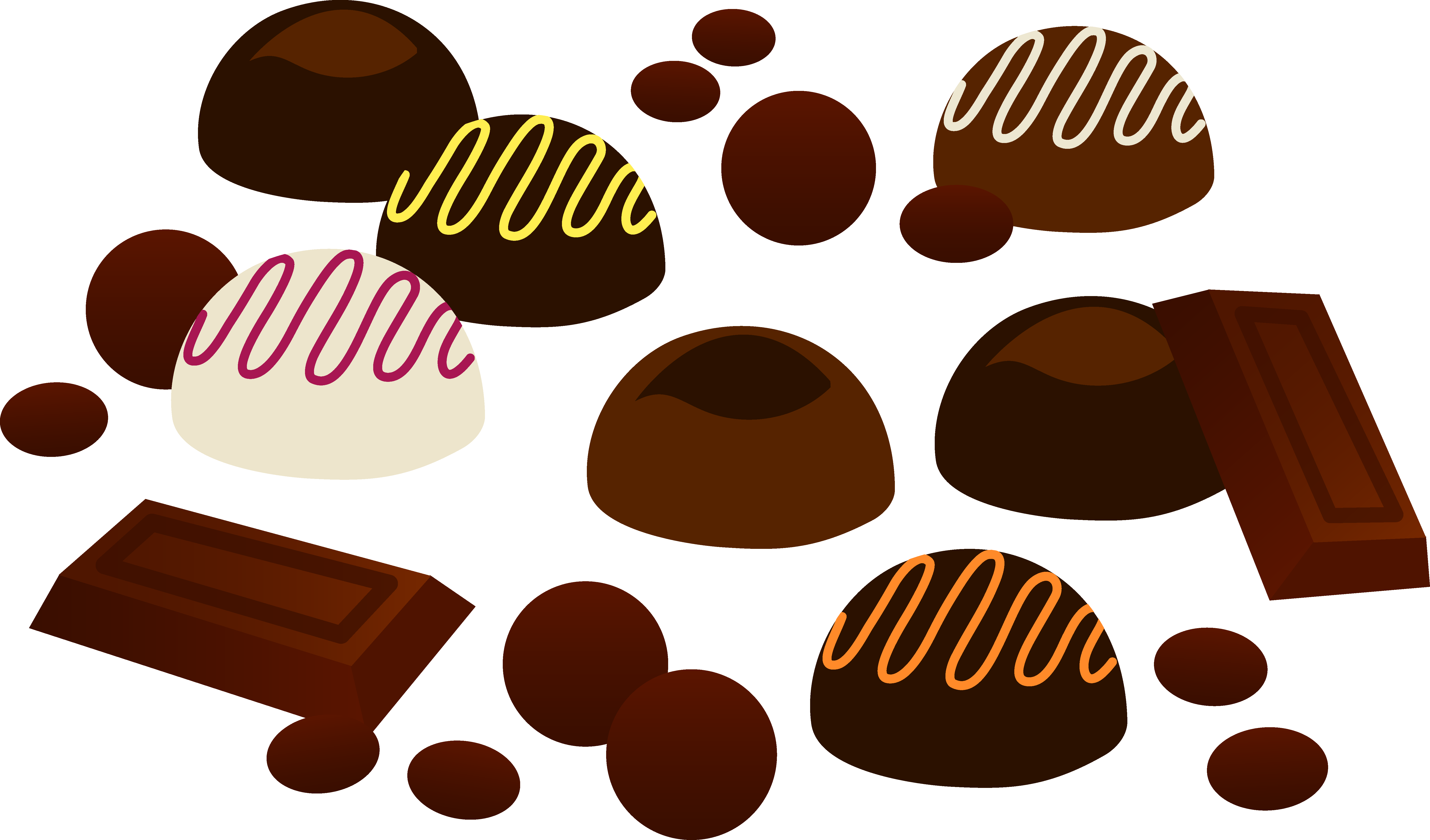Assorted Pieces of Chocolates - Free Clip Art
