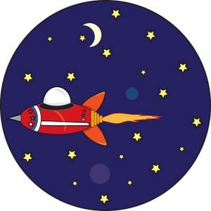 Astronomy Clip Art | Space Ship Clipart Image: Space ship flying through  outer space with a .