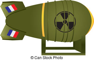 Atomic Bomb Blast Clipartby AlanCotton0/7; Aviation atomic bomb France for nuclear war. Vector.